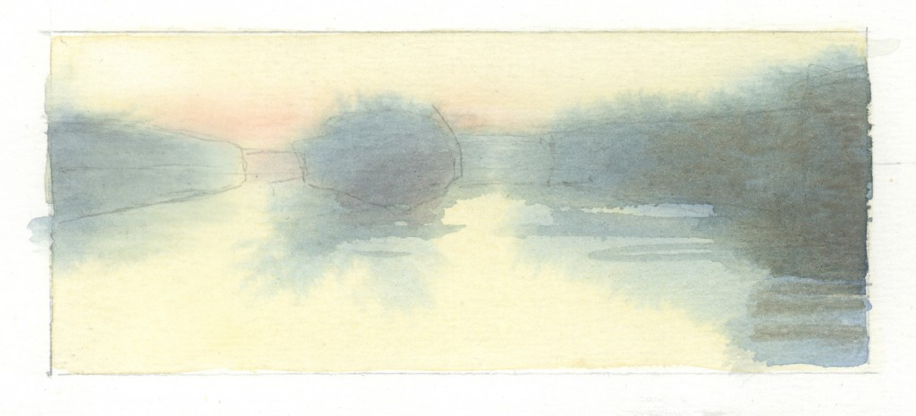 Dawn, CT. River, study 1